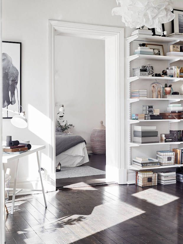 my scandinavian home: A striking yet calm monochromatic Swedish home