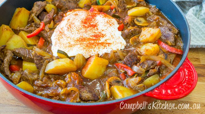 Get inspired by this Rich Beef and Vegetable Stew, made with #beefstock.