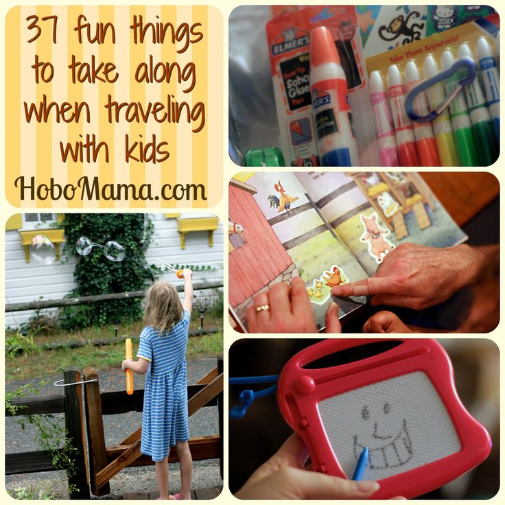 37 fun things to take along when traveling with kids ...