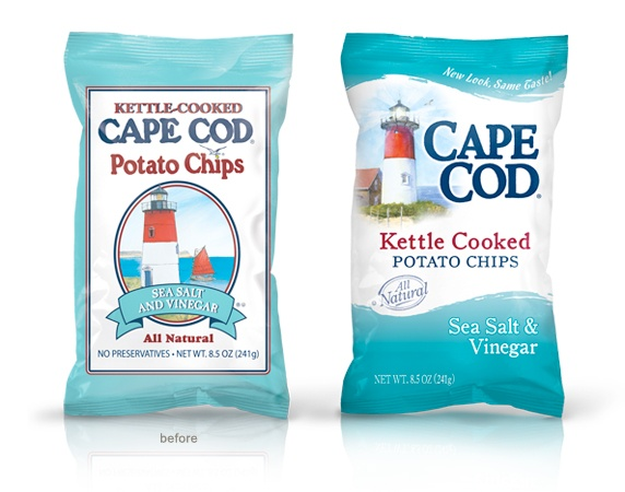 Cape Cod chips bag Before and After #packaging