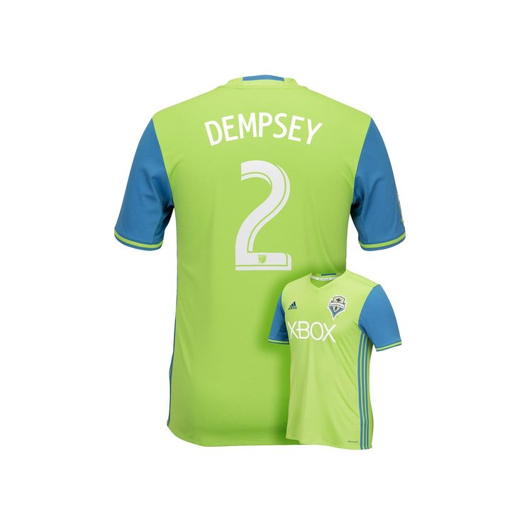 Men's Adidas Seattle Sounders Clint Dempsey Replica Jersey, Size: Large, Green