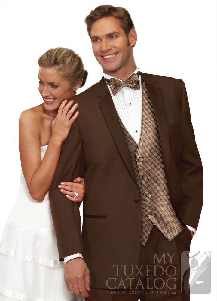 Mahogany (Brown) 'Summit' Tuxedo from http://www.mytuxedocatalog.com/catalog/rental-tuxedos-and-suits/C922-Mahogany-Brown-Summit-Tuxedo/