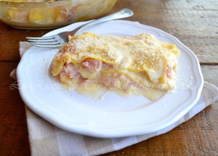 Lasagne prosciutto e mozzarella un primo piatto veloce e gustoso