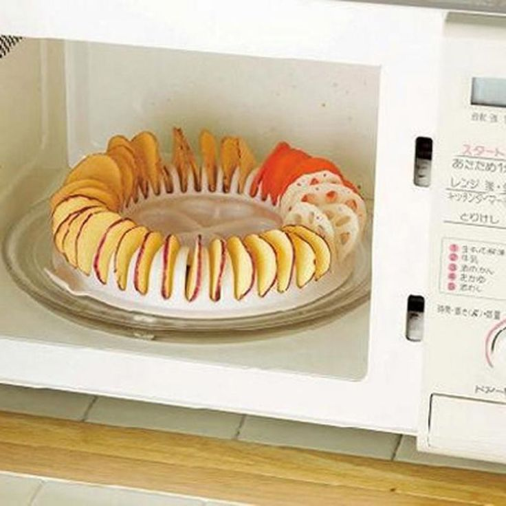 Baked Potato Microwave First Then Oven: Microwave Potato Chips Maker Rack Tray Baking Tool DIY