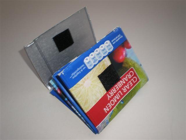 Knutselen: Portemonnee vouwen van een drinkpak