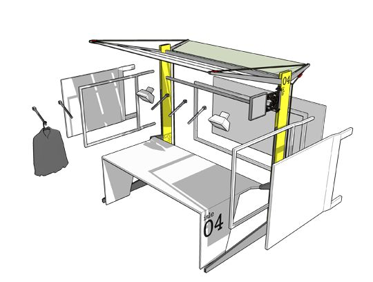 Market Stand Designs : Market stall design exploded view for the pop up