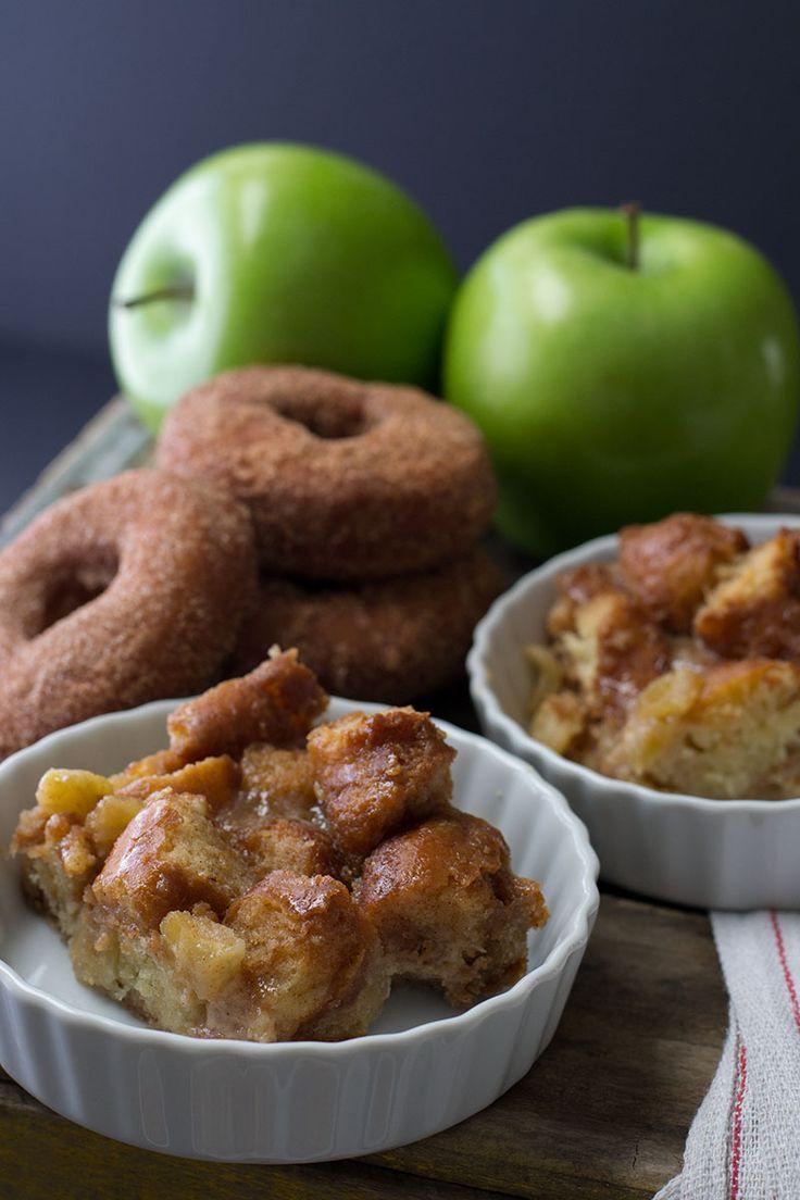 Apple Cinnamon Doughnut Bread Pudding with Maple Butter Rum Sauce ...