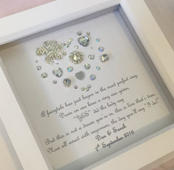 Personalised engagement gift personalised by LoveTwilightSparkles