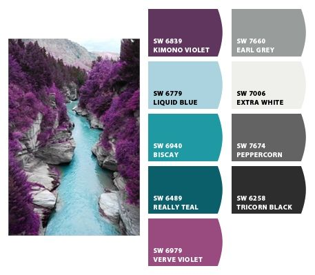 Best 20 teal color schemes ideas on pinterest - Lavender paint color schemes ...