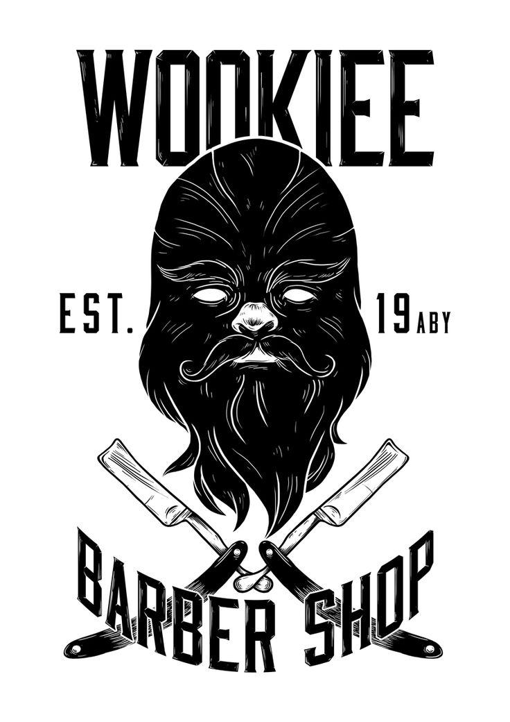 """Wookiee Barber Shop"" - digital illustration"
