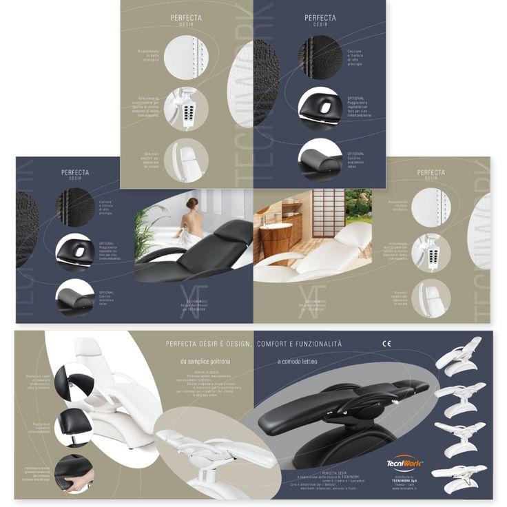 TECNIWORK - Poltrona/Lettino PERFECTA Désir  Brochure di Prodotto Impaginazione grafica Creativa - fotoritocco