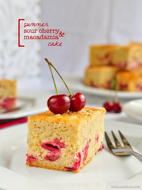 Sour Cherry Macadamia Cake by 84thand3rd