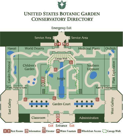Best United States Botanic Garden Images On Pinterest United - Us botanic garden map