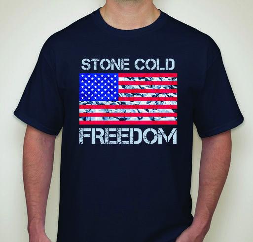 SCF | Stone Cold Freedom | Patriotic Men's T-Shirt | Navy