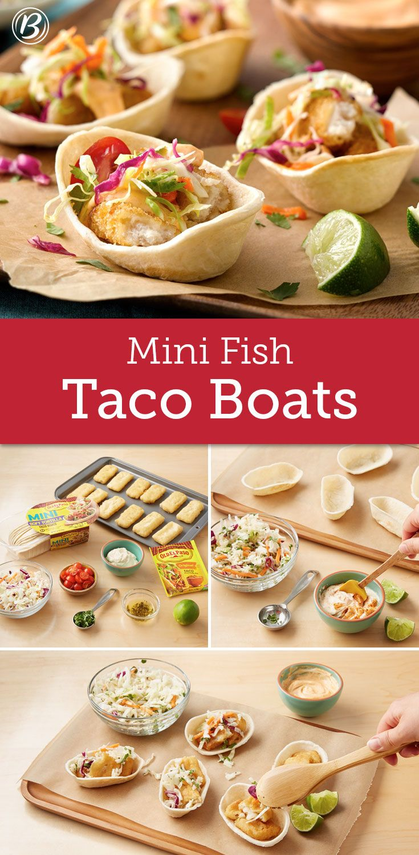 Mini fish taco boats recipe cas dressing and the o 39 jays for Fish taco dressing