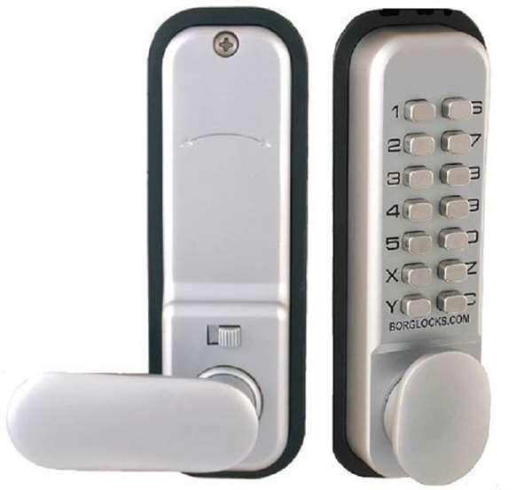 Borg Lock Mechanical Digital Lock (holdback) 60mm SC - access control - digital locks - Mechanical Digital Lock (holdback) 60mm SC - Timber, Tool and Hardware Merchants established in 1933