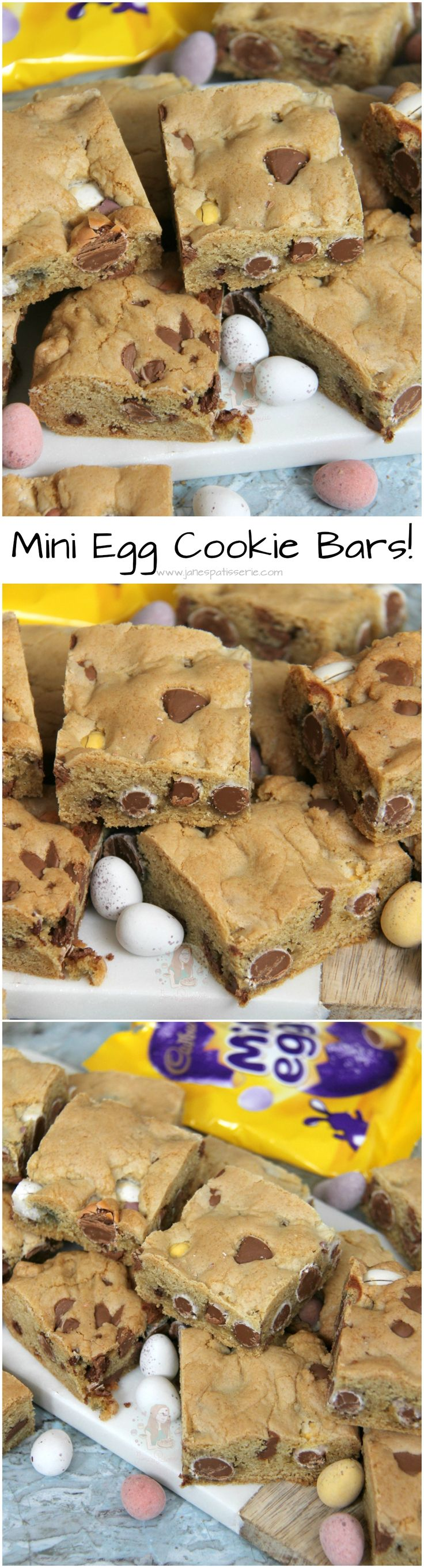 Mini Egg Cookie Bars! ❤️ A Yummy Mini Egg & Chocolate Chip Cookie Traybake perfect for Easter.. Mini Egg Cookie Bars are my new Favourite!