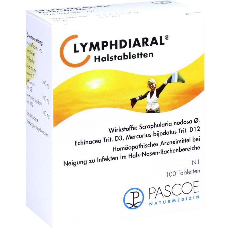 LYMPHDIARAL HALSTABLETTEN:   Packungsinhalt: 100 St Tabletten PZN: 03898510 Hersteller: PASCOE pharmazeutische Präparate GmbH Preis:…