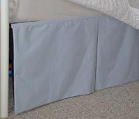 Easy diy shows how to make a daybed dust ruffle bed skirt with no-sew instructions too