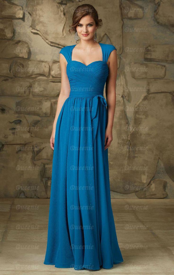 Elegant Blue Bridesmaid Dress BNNCG0005-Bridesmaid UK