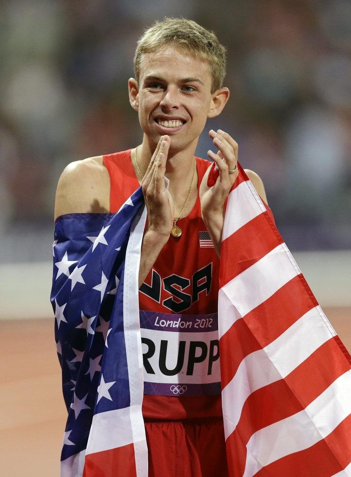 Galen Rupp, USA Mens' 10000 m silver medal