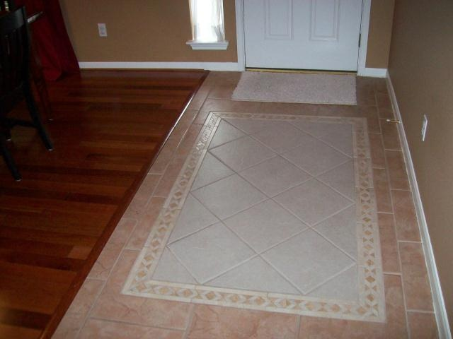 11 best ceramic tile rugs images on pinterest floors for Entrance flooring ideas
