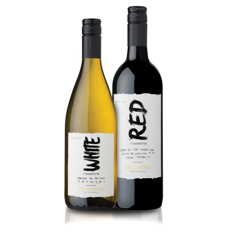 Red and White Parnevik Wine on Packaging of the World - Creative Package Design Gallery