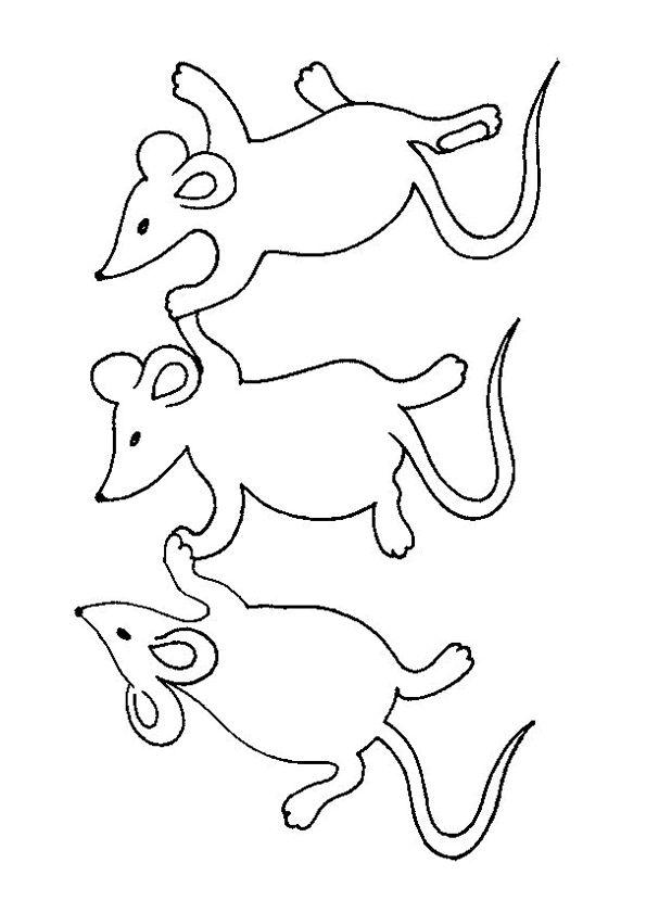 1000 images about coloriages animaux de la ferme on pinterest - Coloriage petite souris ...