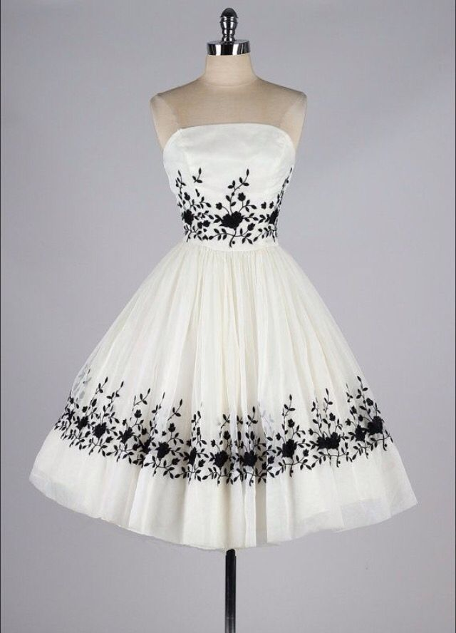 "White brilliant ""flowered"" perfect dress"