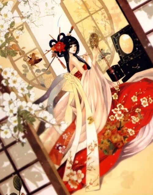 """Out of all the manga I've read, """"The Bride of The Water God"""" is the without question the most visually stunning. I wish I could've found a pin of Mura though (was too lazy to upload one myself)..."""