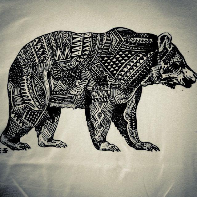 Bear Tattoo Tattoos Pinterest California Tattoos Animal And Design