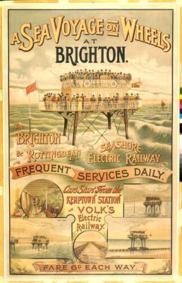 The Sea Voyage on Wheels at Brighton on VintageRailPosters.co.uk Prints
