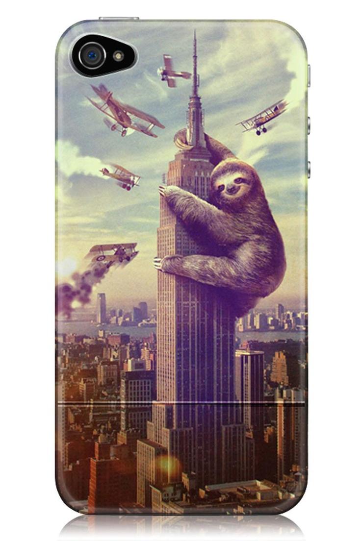 Sharp Shirter Slothzilla iPhone 4/4S Case