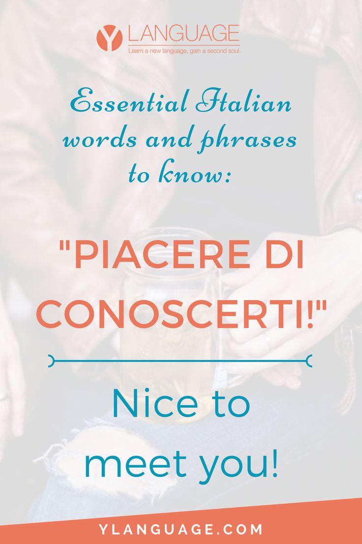 nice to meet you in italian language