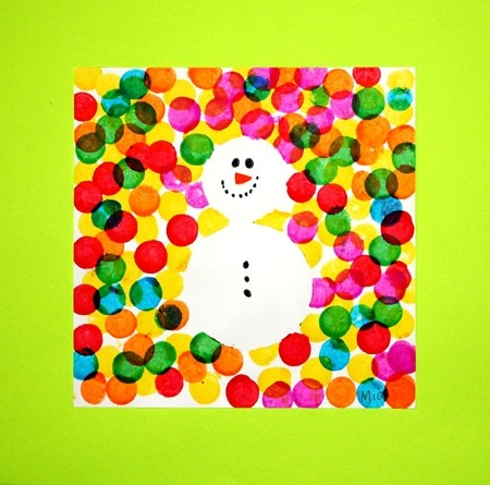 winter craft party - maybe use a snowflake stencil also??