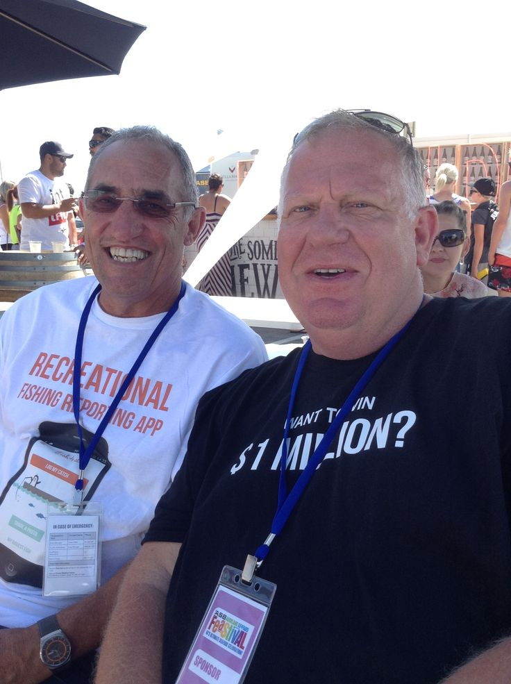 Million Dollar Snapper Challenge Founder Dave Baty (right)