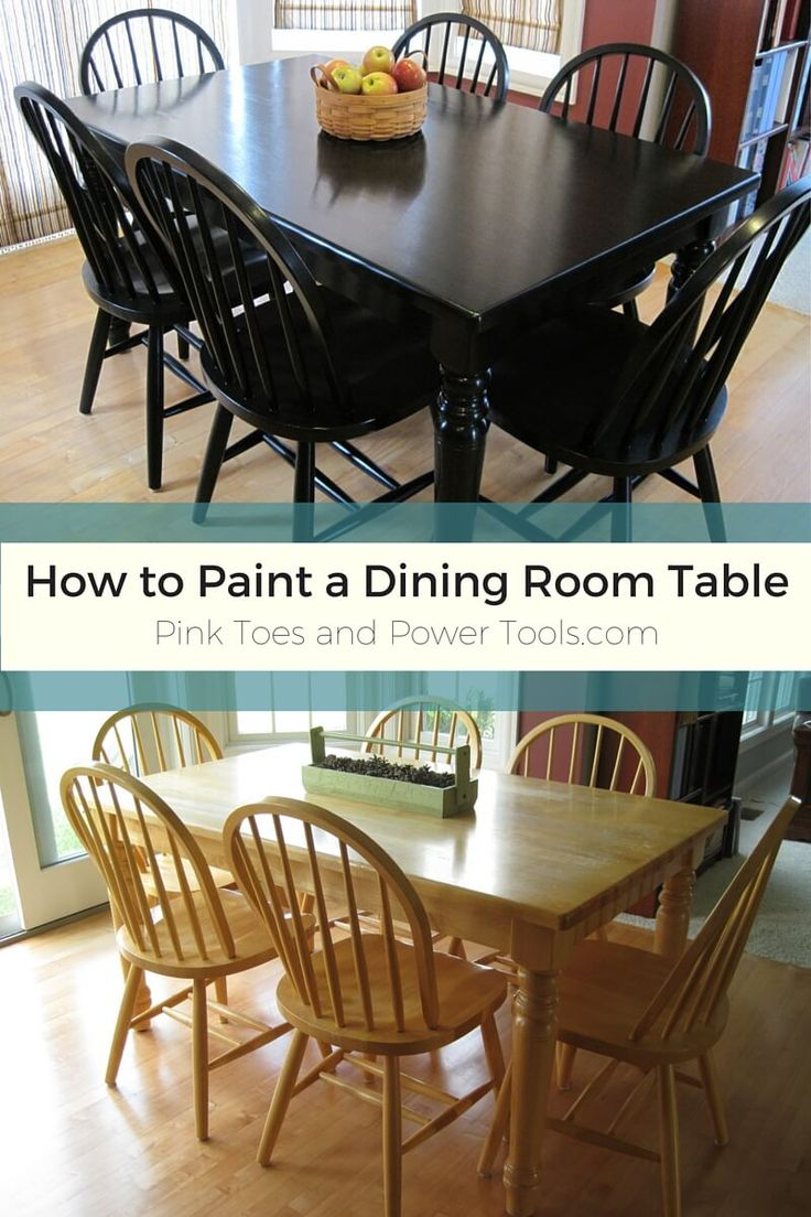 A DIY Girl With A Blog Black Dining Room Table Kitchen Table Redo Painted Kitchen Tables