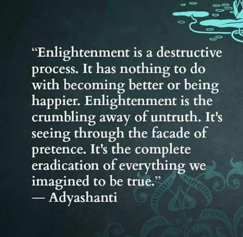 When your world gets rocked, your earth shattered and all that you've ever known challenged, trust that complete awakening is right around the corner.