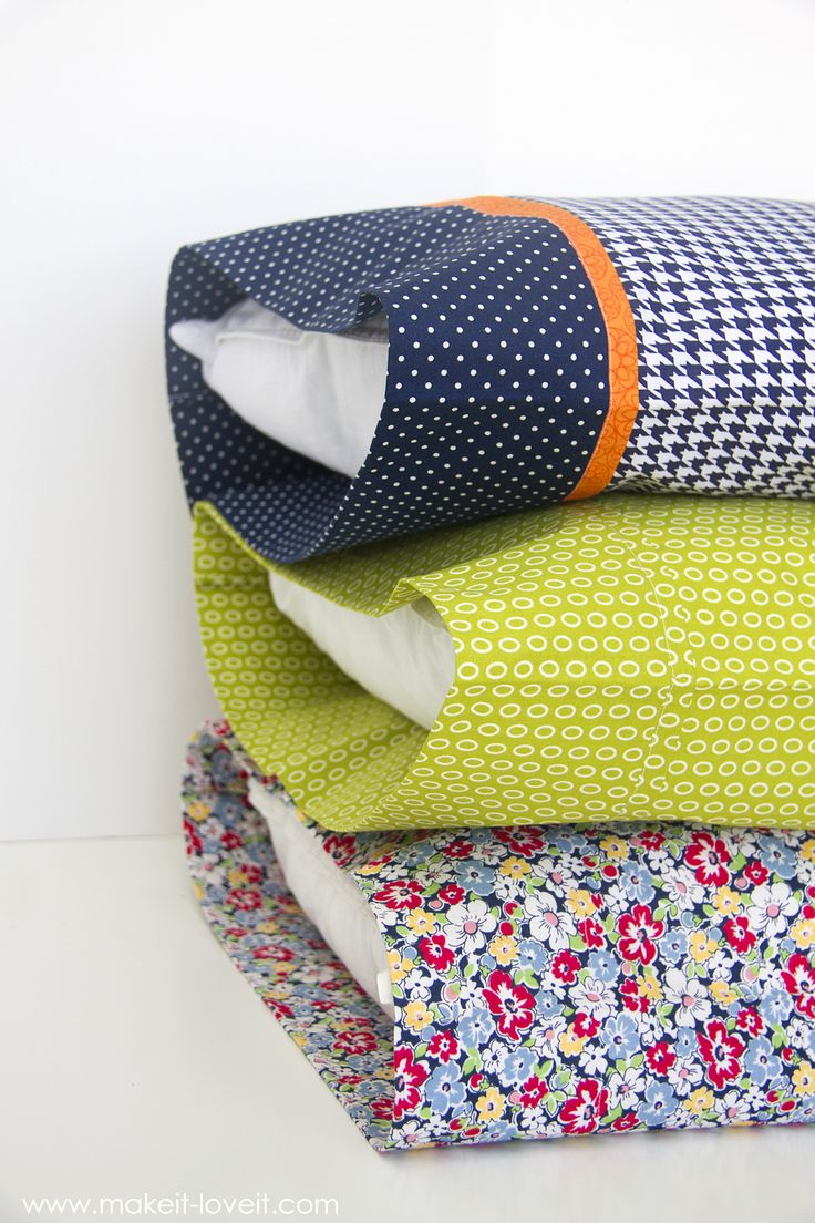 Diy Bed Pillow Cases 3 Sizes And 3 Different Styles