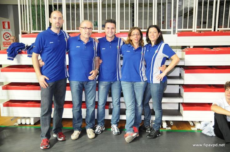 La commissione minivolley in occasione della Festa di presentazione (30 settembre 2012,. PalaFabris)