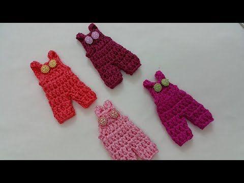 How to crochet mini romper كروشيه ميني افرول توزيعات - YouTube