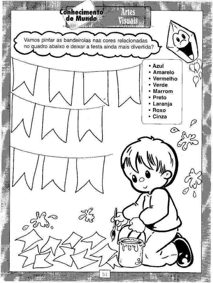 JARDIM COLORIDO DA TIA SUH: 100 Atividades para Festa Junina prontas para imprimir