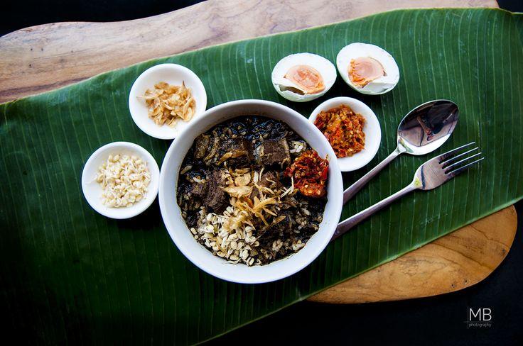 Indonesian Food Rawon @Kedai De Litya- Bali (Overhead View)