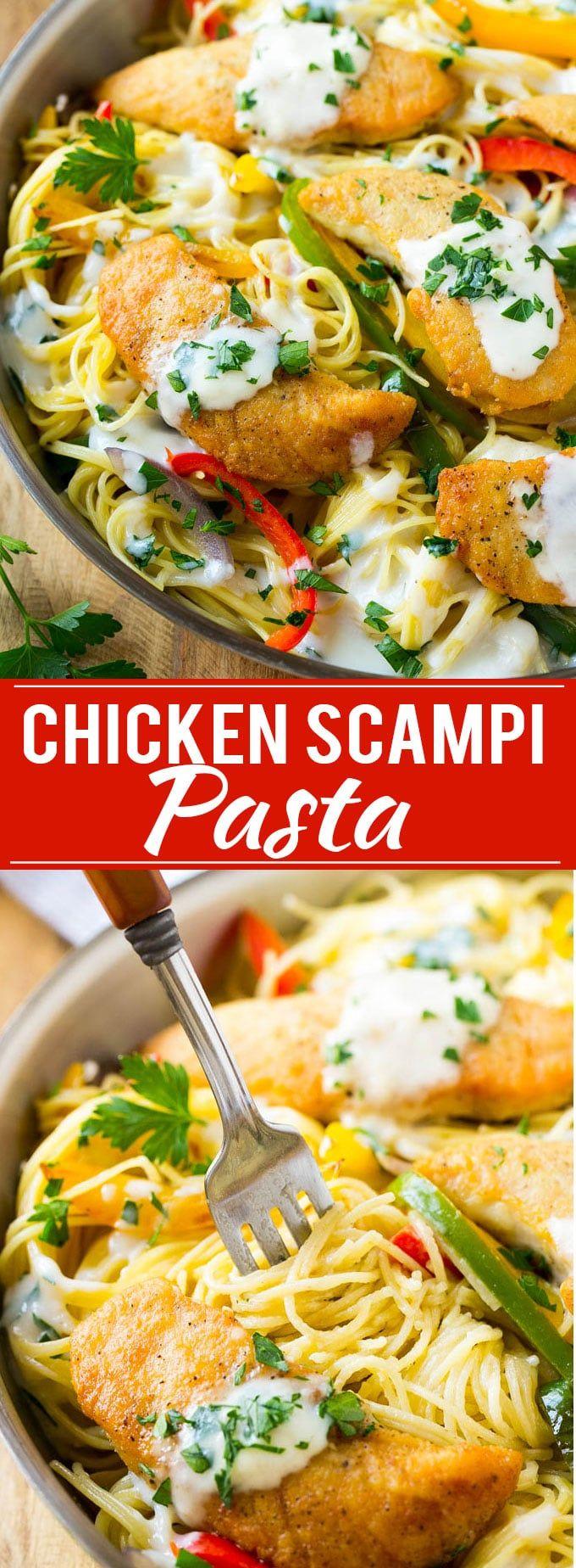 Chicken Scampi Recipe | Easy Chicken Pasta | Olive Garden Copycat | Creamy Chicken Pasta | Italian Food Recipe