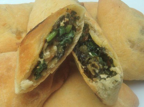 Spinach hand pie that doesn't involve phyllo. YES.