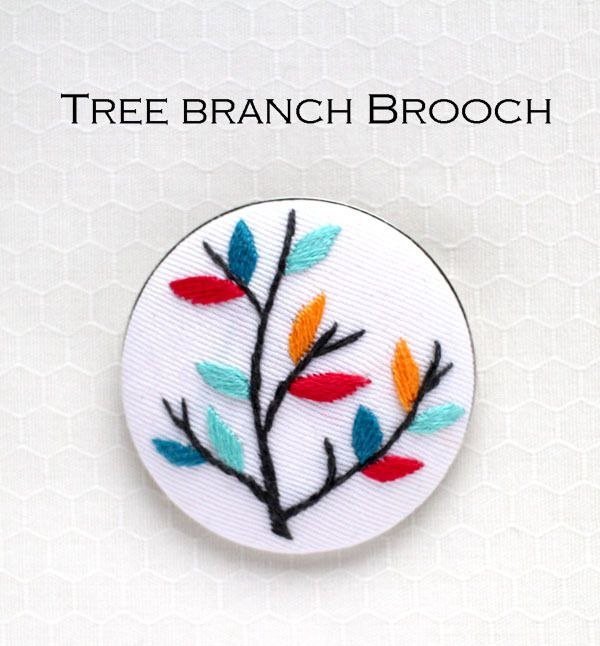 『木の枝』ブローチ刺繍キット   net store ~アンナとラパン