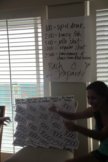 This is a necessary bachelorette party game...probably with different questions but SUPER cool idea! :)