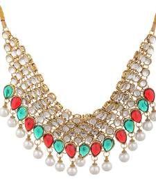 Buy gold metallic necklace-sets necklace-set online