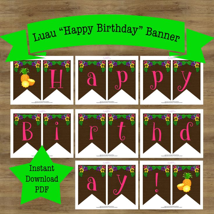 25+ Best Ideas About Luau Birthday Banners On Pinterest
