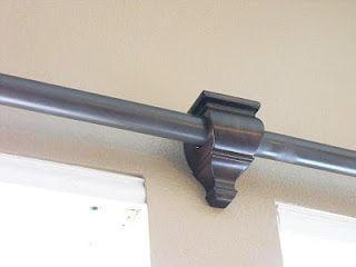 Paint PVC pipe for curtain rods! Finish off with finials and brackets. Holy cash saver.